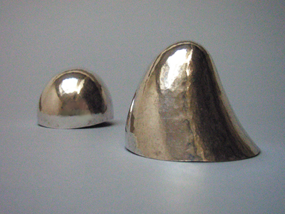 hand-forged silver cups