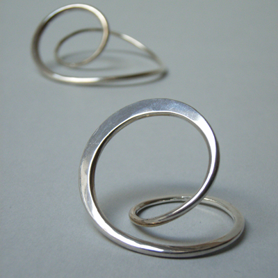 silver forged ring